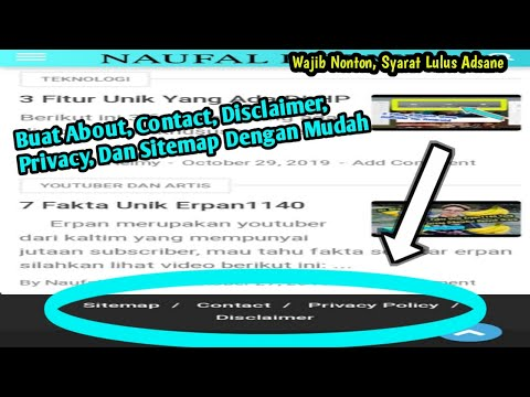 Cara buat About, Contact, Privacy Policy dan Disclaimer (Daskboard Blogger Baru).
