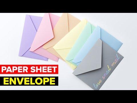 How to Make Paper Envelope | DIY Easy Paper Envelope