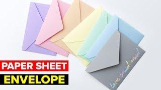 How to Make Paper Envelope   DIY Easy Paper Envelope