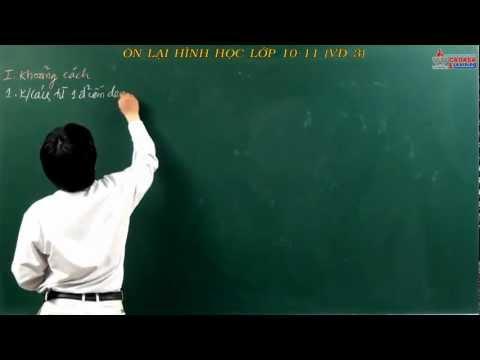 Luyện thi môn Toán 2014 - hình học 12 - Khoảng cách và góc - Cadasa.vn