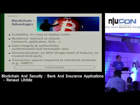 nullcon Goa 2017 - Blockchain And Security: Bank And Insurance Applications by Renaud Lifchitz