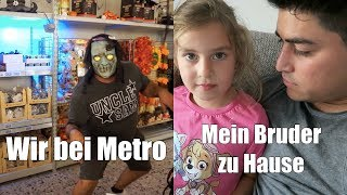 DOPPELVLOG mit meinem Bruder   Wir sind einkaufen bei Metro   Familienvlog   Filiz