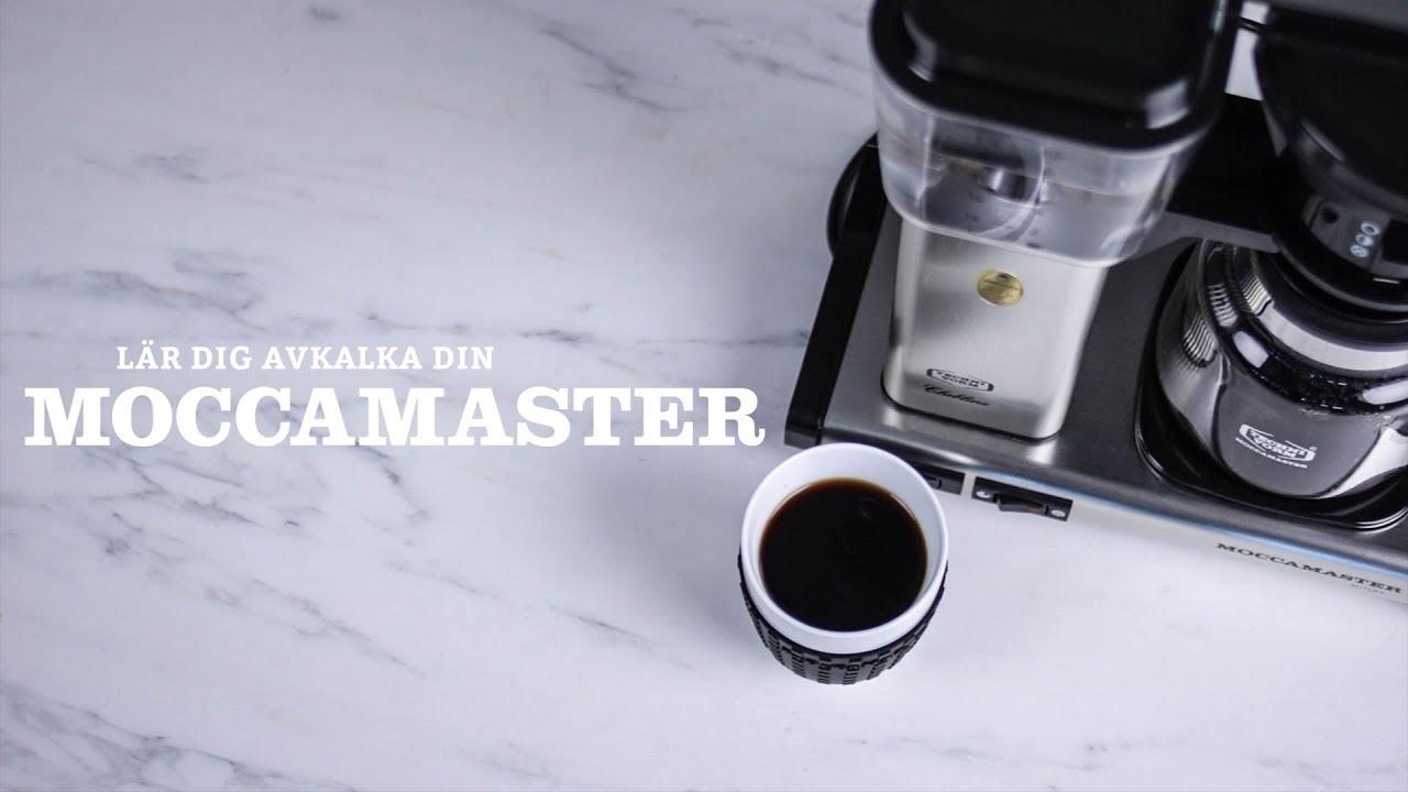 kalka av kaffebryggare moccamaster
