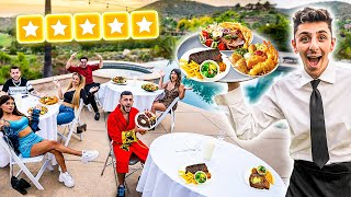 I Opened a 5-STAR RESTAURANT in my BACKYARD!! **$10,000 MEAL**
