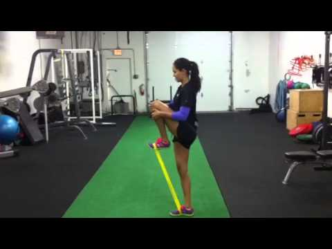 Standing Band Resisted Hip Flexion