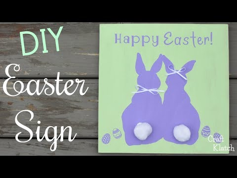 DIY Easter Bunny Sign   Cricut Crafts   Craft Klatch