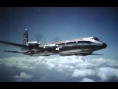 """Flying Tiger Line Canadair CL-44 """"Swing-Tail"""" Freighter - 1961"""