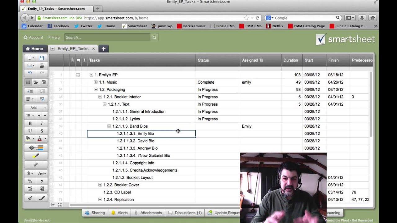 implementing a work breakdown structure in smartsheet