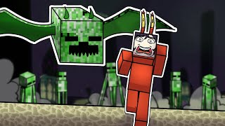 Minecraft but EVERY MOB IS A CREEPER
