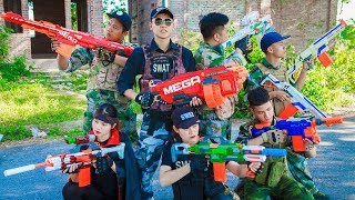 LTT Nerf War : Special Task SEAL X Warriors Nerf Guns Fight Criminal Group Police Captain Patrol