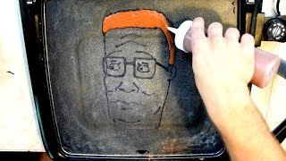 King of the Hill Pancake Art