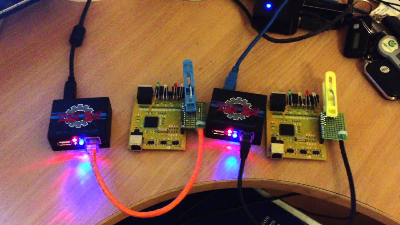 Programming two z3x easy jtag boxes simultaneously - YouTube