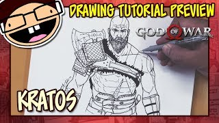 [PREVIEW] How to Draw KRATOS (God of War) | Drawing Tutorial Time Lapse