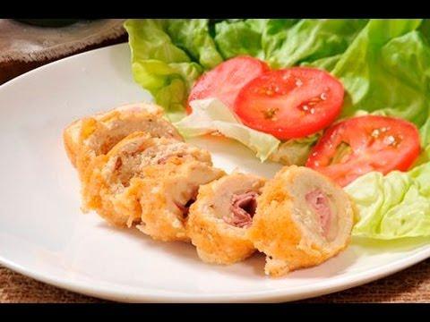 Pechugas de pollo cordon blue cordon blue chicken breast - Pechugas de pollo al horno ...