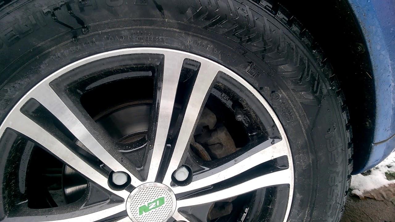 Lada Vesta, ставим зимнюю резину 195/65r 15. - YouTube