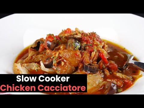 Super Easy Slow Cooker Chicken Cacciatore