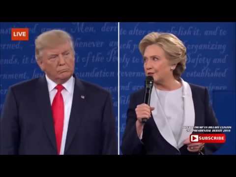 BECAUSE YOUD BE IN JAIL THUG LIFE   Trump Roasts Hillary Clinton For Prison 2nd Presidential Debate