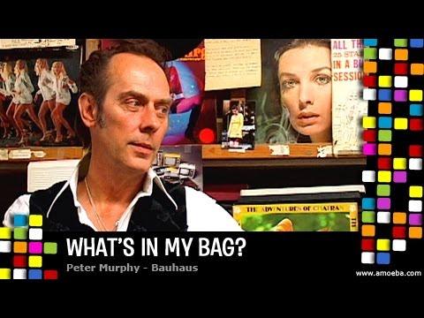 Peter Murphy (Bauhaus) - What's In My Bag?