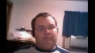 Funny Fat Man Singing & Dancing In Chair At Pc To 'numa Numa' By Gary Brolsm