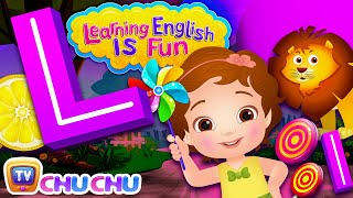 ChuChu TV Learning English Is Fun™ | Alphabet L Song | Phonics & Words For Preschool Children