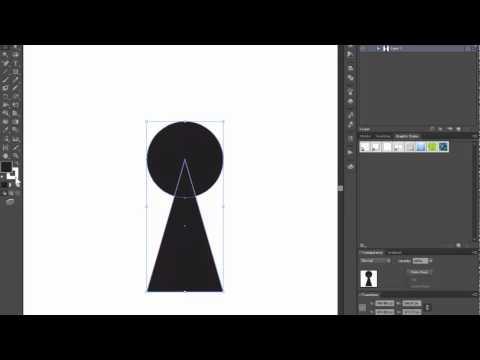 Keyhole shape - Adobe Illustrator cs6 tutorial. Quick and easy way how to draw basic shape.