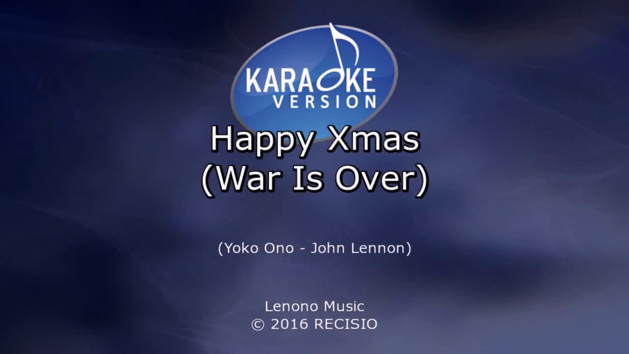 Happy Xmas War Is Over Celine Dion Karaoke Kaz Youtube
