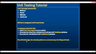 Creating your first unit test