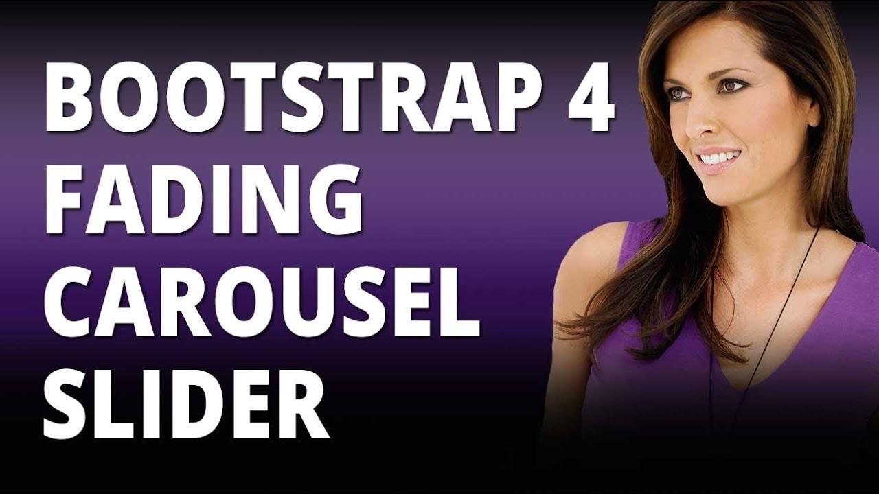 Bootstrap 4 Fading Carousel Slider