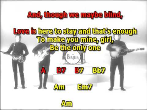 things we said to day Beatles best karaoke instrumental lyrics chords