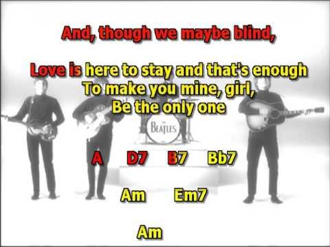 things we said to day Beatles best karaoke instrumental lyrics chords