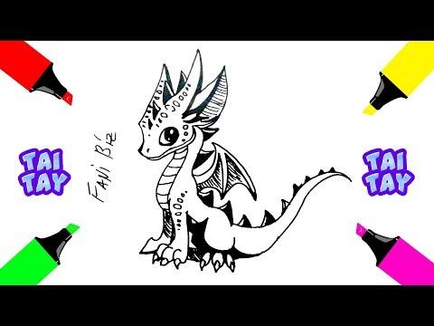 Как нарисовать ДРАКОНА Срисовки или Рисунки поэтапно FaniBiz