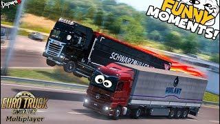 Euro Truck Simulator 2 Multiplayer Funny Moments & Crash Compilation #57