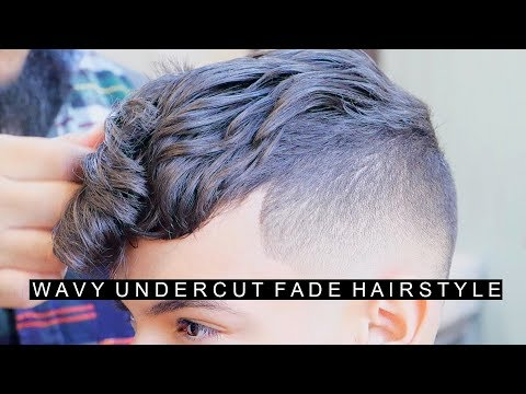 Wavy Undercut Hairstyle for Men with Curly Hair | Cool Fade Hairstyle | New Hairstyle For Men