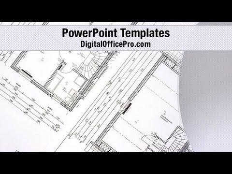 House Plan PowerPoint Template Backgrounds - DigitalOfficePro ...