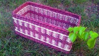 ▬► Газетное плетение. Узор