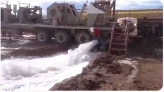 Construction Worker Can't Handle the Blast from the Hose