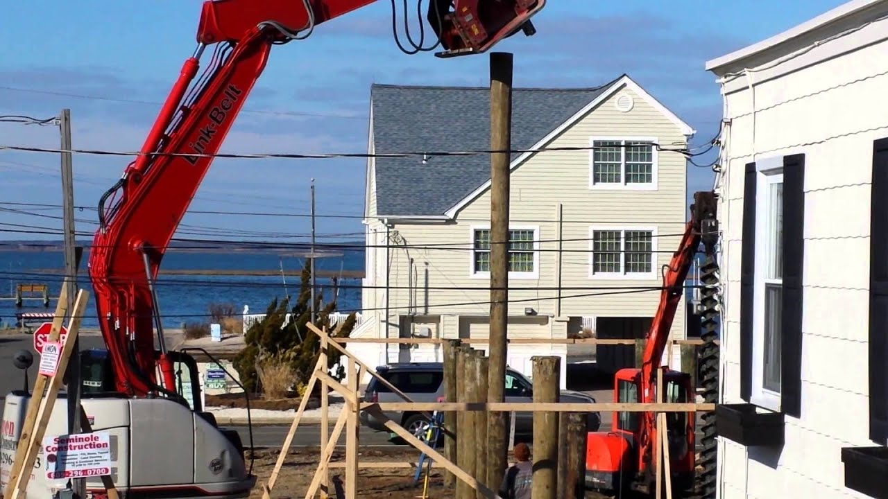 House Raising Piling Installation Youtube