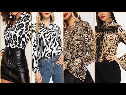 Animal Print Tops And Blouse Dresses Collection