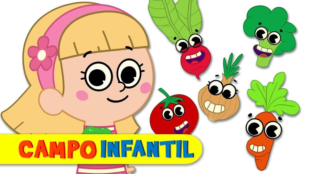 La canción de los vegetales - Canciones infantiles con Elly y Eva | Campo Infantil