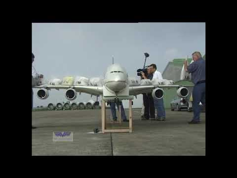A 380 RC Airbus Airliner certification- the world first Giant flying  model of this type