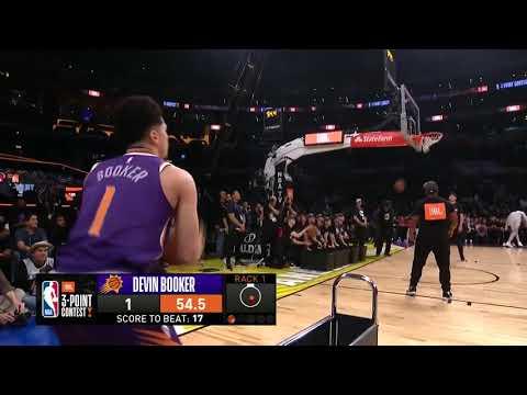 Devin Booker'ın 3 Sayı Yarışması'nda 28 puan alarak NBA rekoru kırdığı müthiş performans