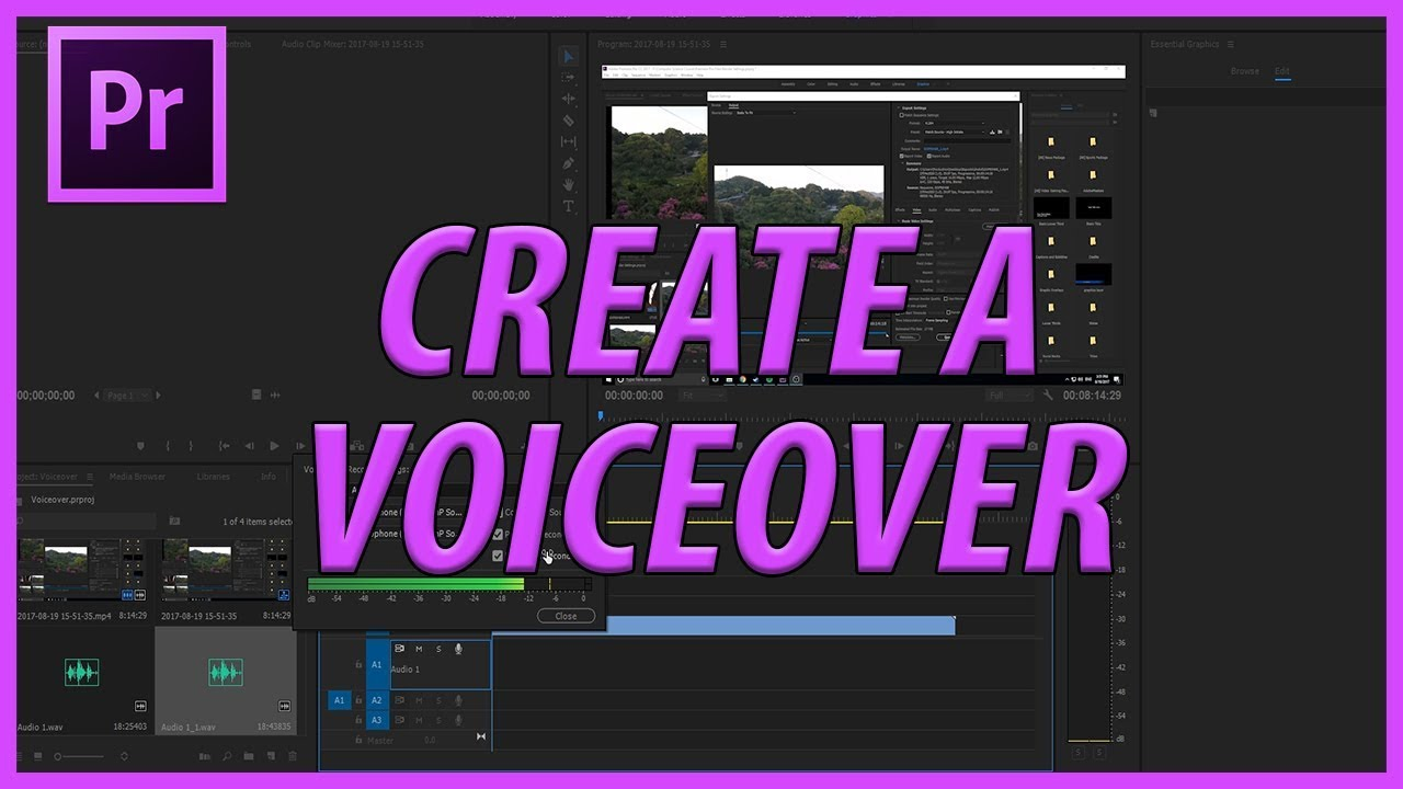 How to Create a Voiceover in Adobe Premiere Pro CC (2017