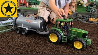 BRUDER TOYS John Deere TRACTOR Toys for Children FARM WORLD all machinery in! PART TWO