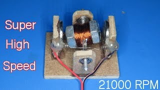 DIY screw motor very high speed