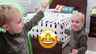 CHRISTMAS REVEAL! Calvin's Finished Bedroom Room Tour! | Ellie And Jared