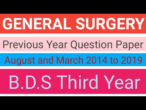 General surgery/Previous year question paper/R.U.H.S university/General surgery question paper #Generalsurgery