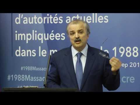Me Mohammad Mohadessin à la conférence de presse à Paris 6 septembre sur le #1988Massacre en Iran