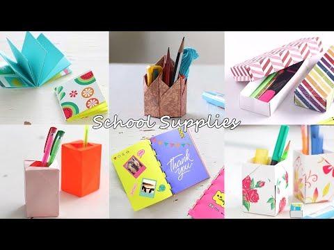 6 Cool DIY School Supplies | Stationery Ideas