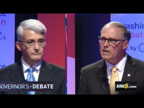 """""""80% Of Our Gun Violence In Washington State Is Suicide!"""" JAY INSLEE vs BILL BRYANT Debate"""