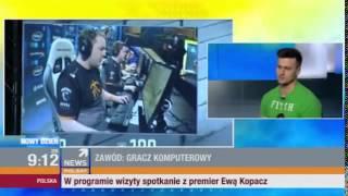"""Jarosław """"Pasha"""" Jarząbkowki w Polsat News (CS:GO)(VIRTUS.PRO)"""